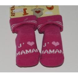 Paire de chaussettes rose...